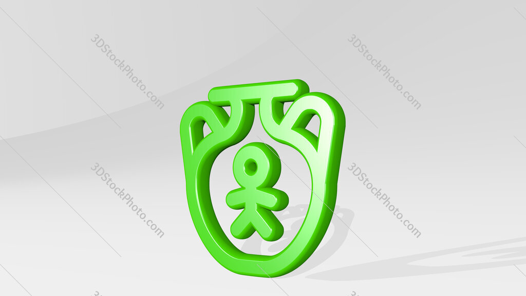 history chinese urn 3D icon casting shadow