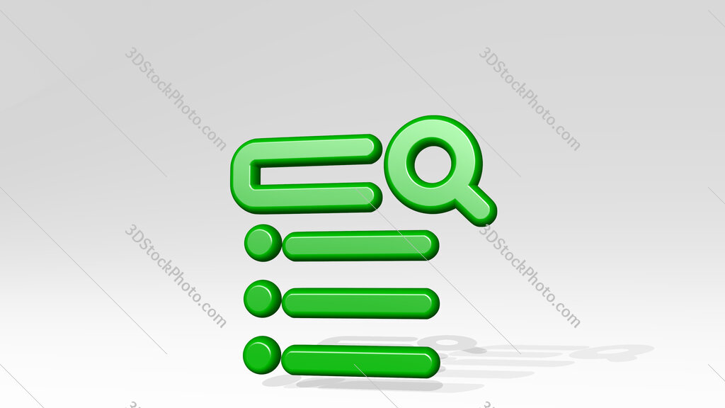 seo search 3D icon casting shadow
