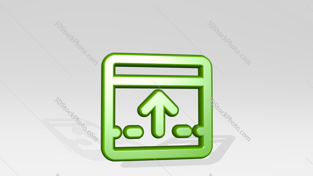 app window move up 3D icon casting shadow