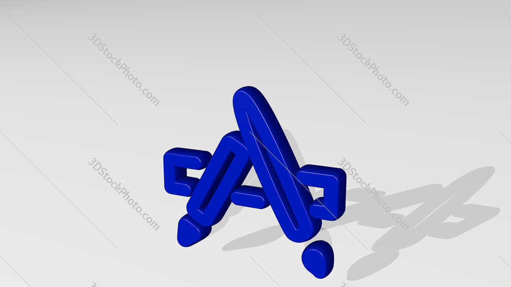 e commerce app store 3D icon casting shadow