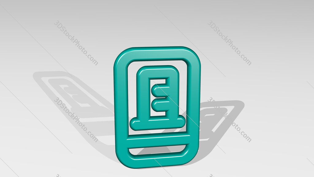real estate app building smartphone 3D icon casting shadow