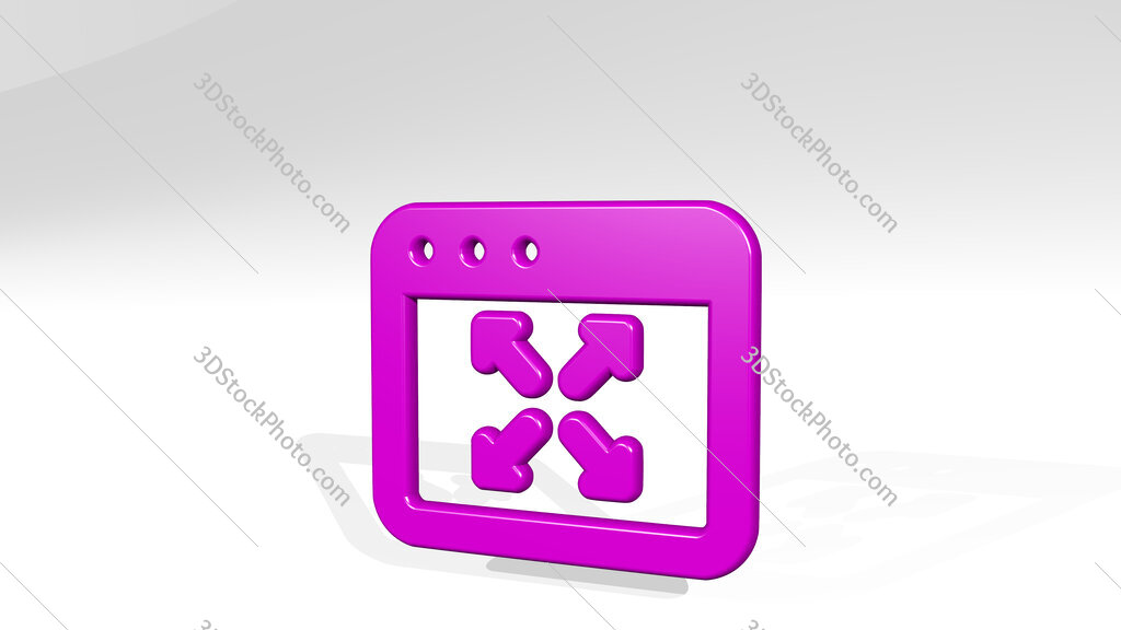 app window expand 3D icon casting shadow