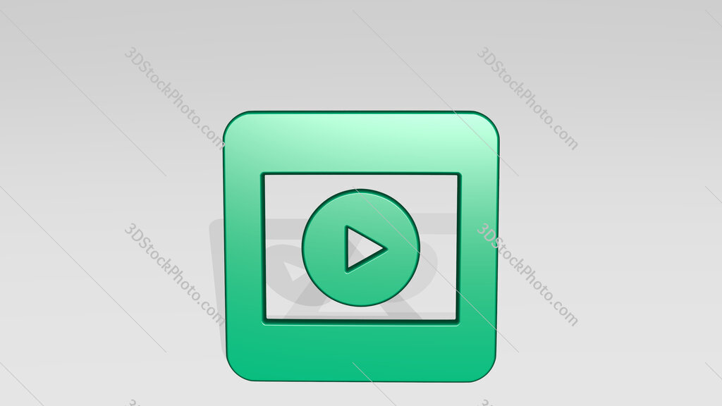 video player movie 2 alternate 3D icon casting shadow