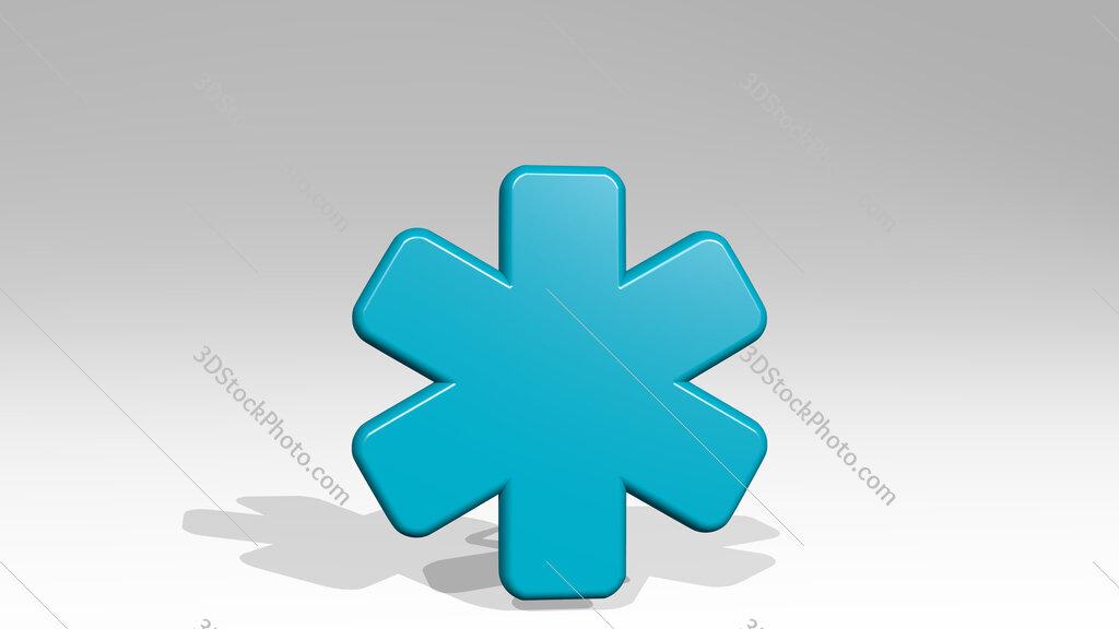 medical hospital 3D icon casting shadow