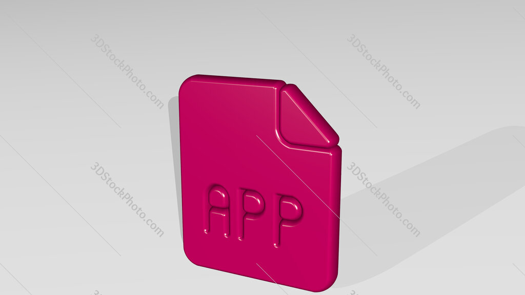 file app 3D icon casting shadow