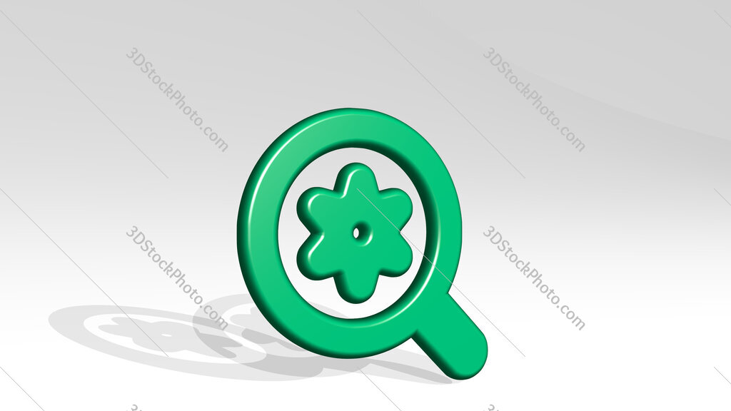 seo search settings 3D icon casting shadow