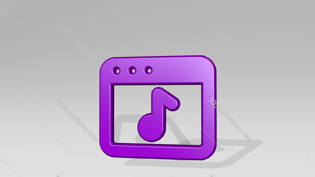 app window music 3D icon casting shadow