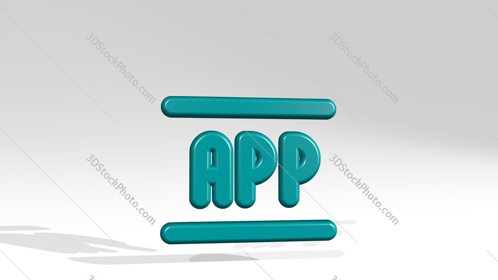 app 3D icon casting shadow