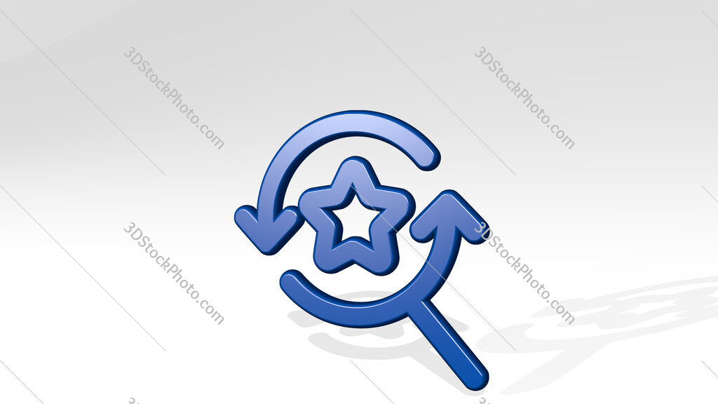 seo search star 3D icon casting shadow