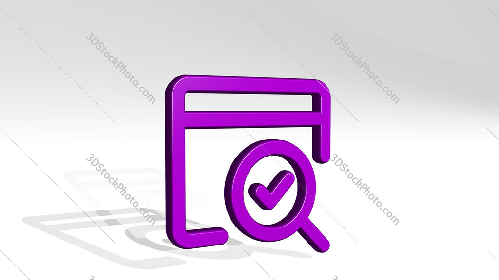 seo search page 3D icon casting shadow
