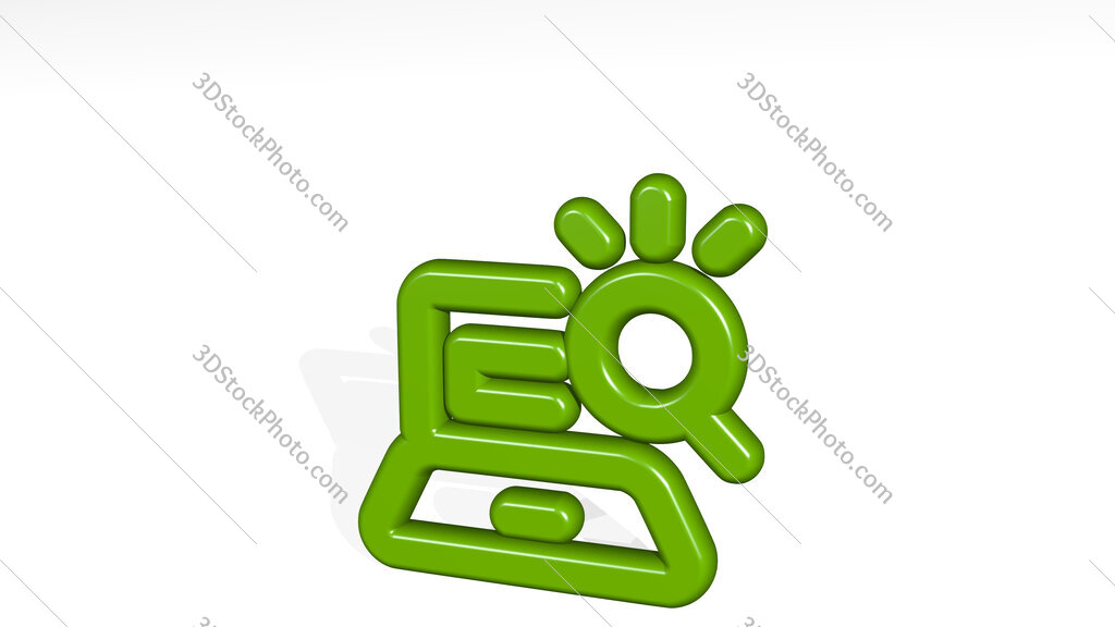 seo search laptop 3D icon casting shadow