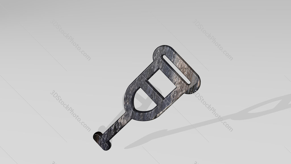 medical instrument 3D icon standing on the floor