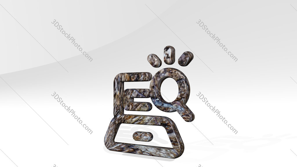 seo search laptop 3D icon standing on the floor