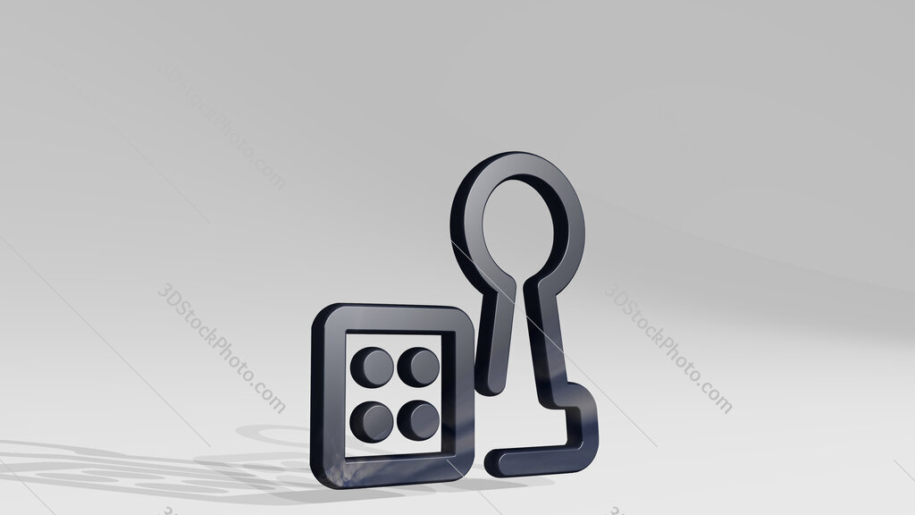 board game dice pawn 3D icon standing on the floor