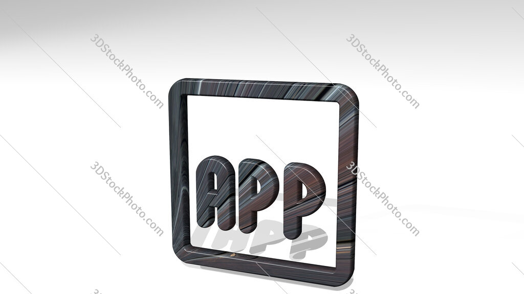 app 3D icon standing on the floor
