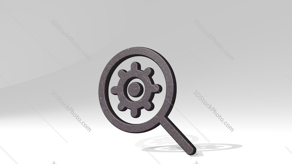 seo search settings 3D icon standing on the floor