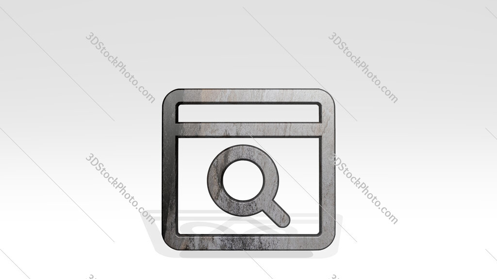 app window search 3D icon standing on the floor