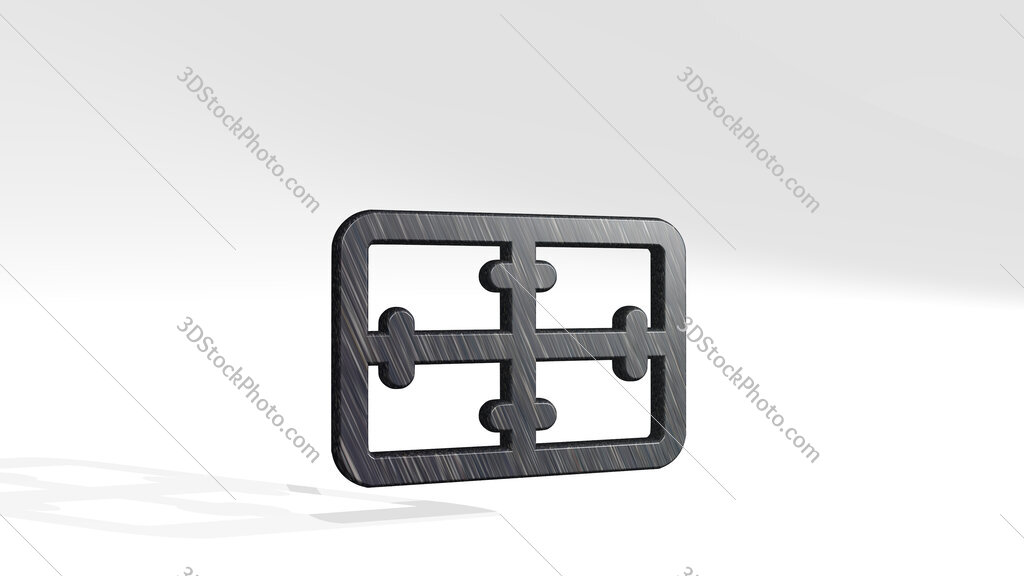 army symbol medical 3D icon standing on the floor