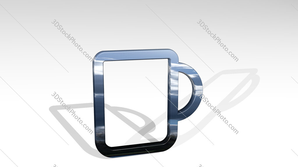 coffee mug 3D icon standing on the floor