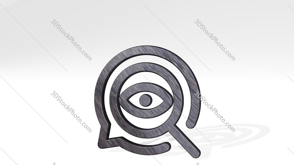 seo search eye 3D icon standing on the floor