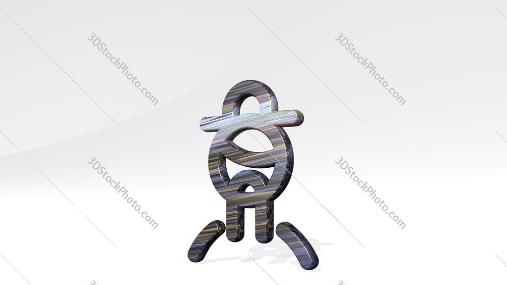 history man chinese elder 3D icon standing on the floor