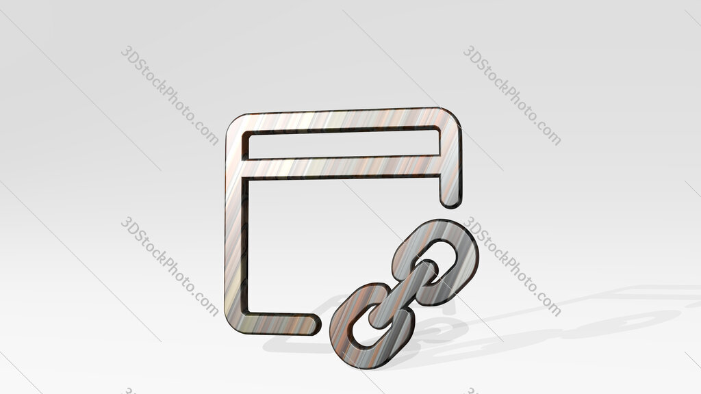 app window link 3D icon standing on the floor
