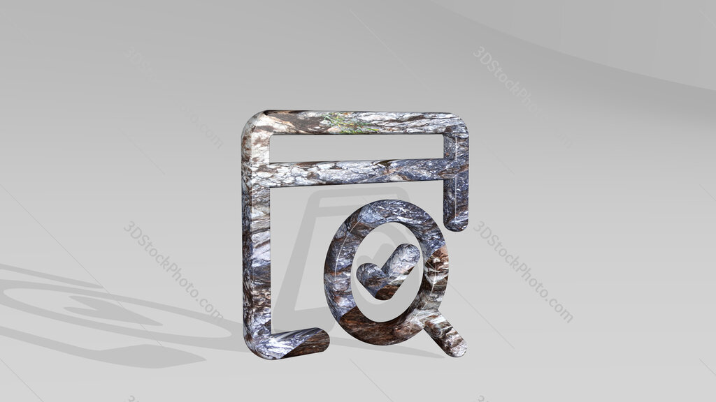 seo search page 3D icon standing on the floor