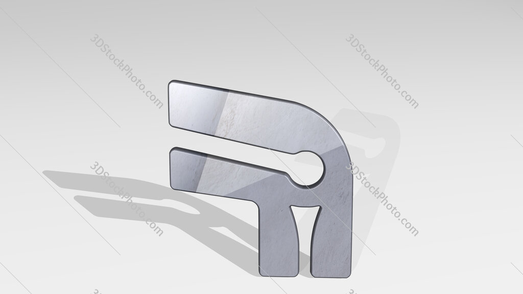 medical specialty knee 3D icon standing on the floor
