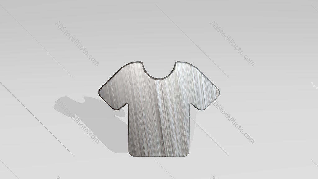 shirt plain 3D icon standing on the floor