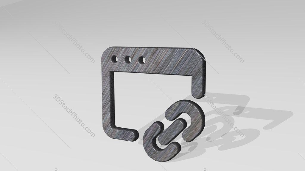 app window link 3D icon standing on the floor