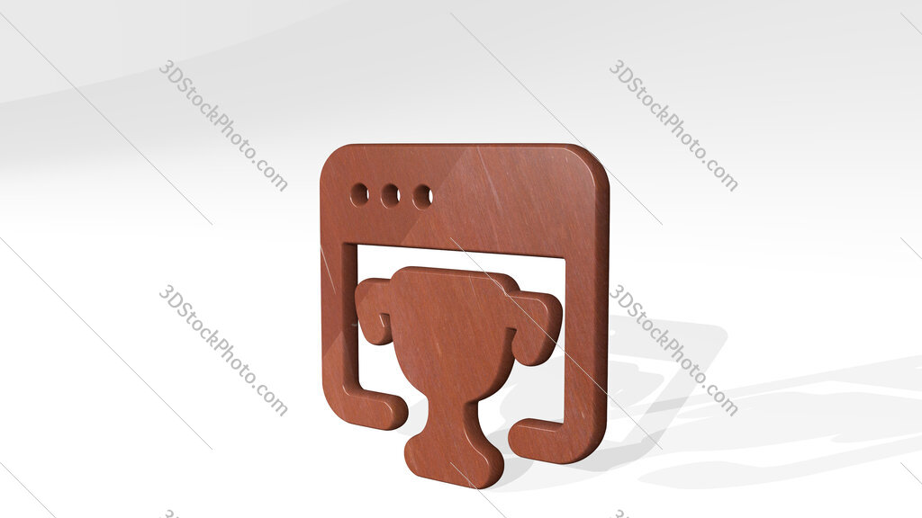 seo trophy 3D icon standing on the floor