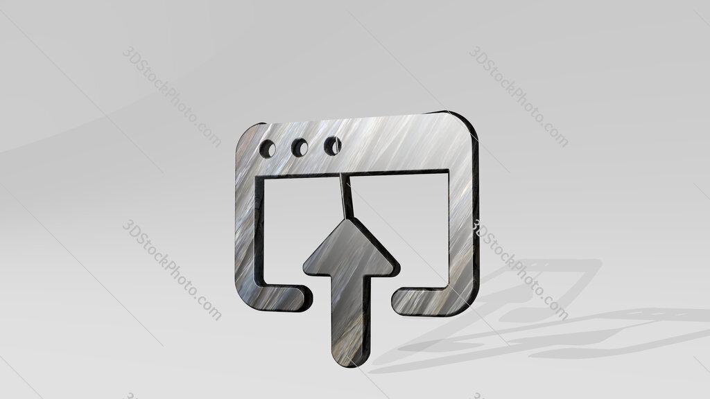 app window upload 3D icon standing on the floor