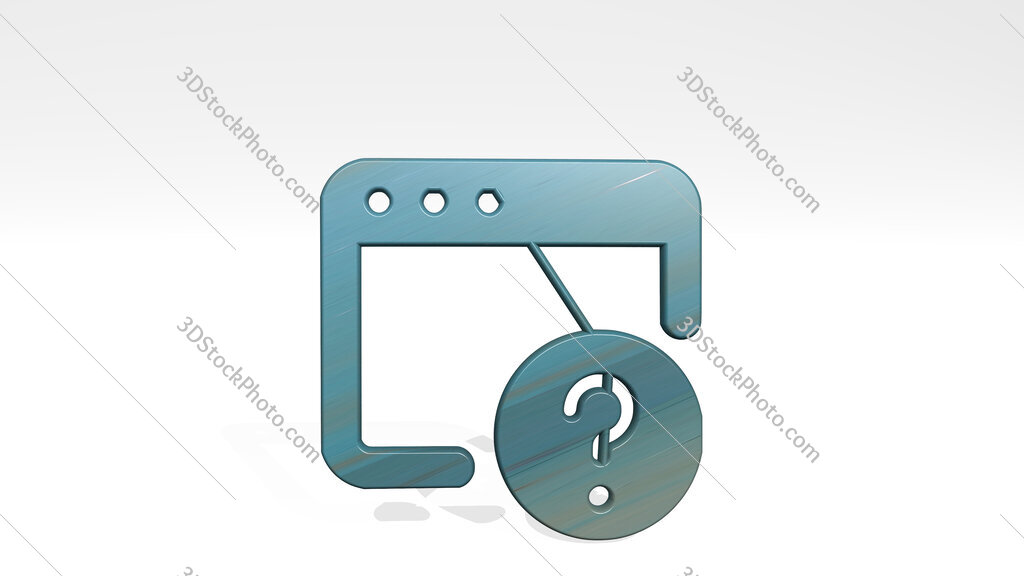 app window question 3D icon standing on the floor