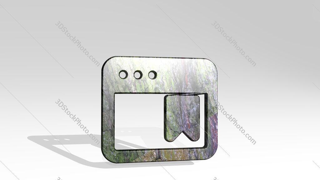 app window bookmark 3D icon standing on the floor