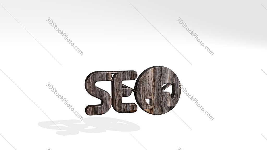 seo network 3D icon standing on the floor