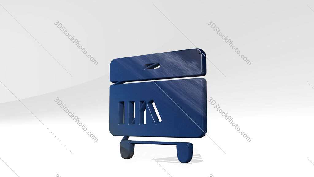 night stand book 3D icon standing on the floor