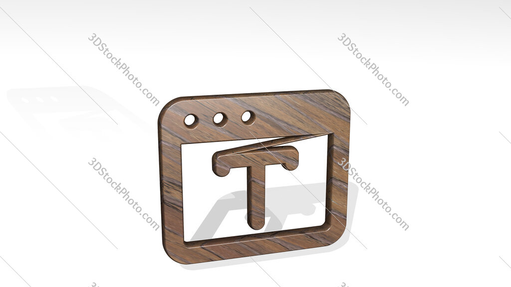 app window type 3D icon standing on the floor