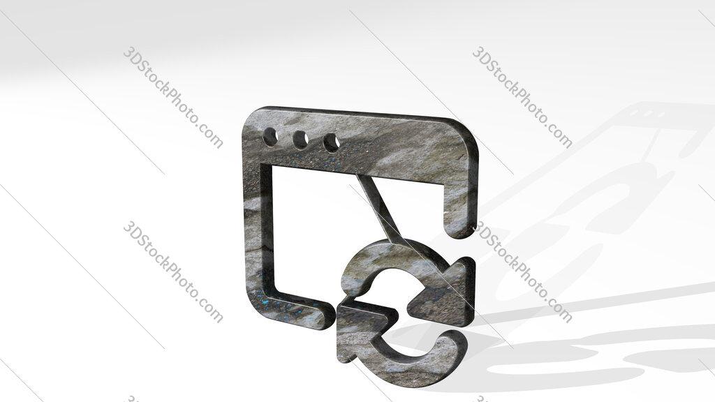 app window sync 3D icon standing on the floor