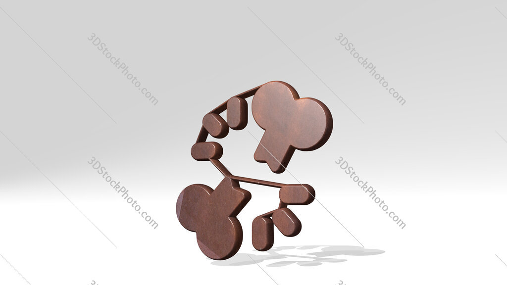 medical specialty broken bone 3D icon standing on the floor