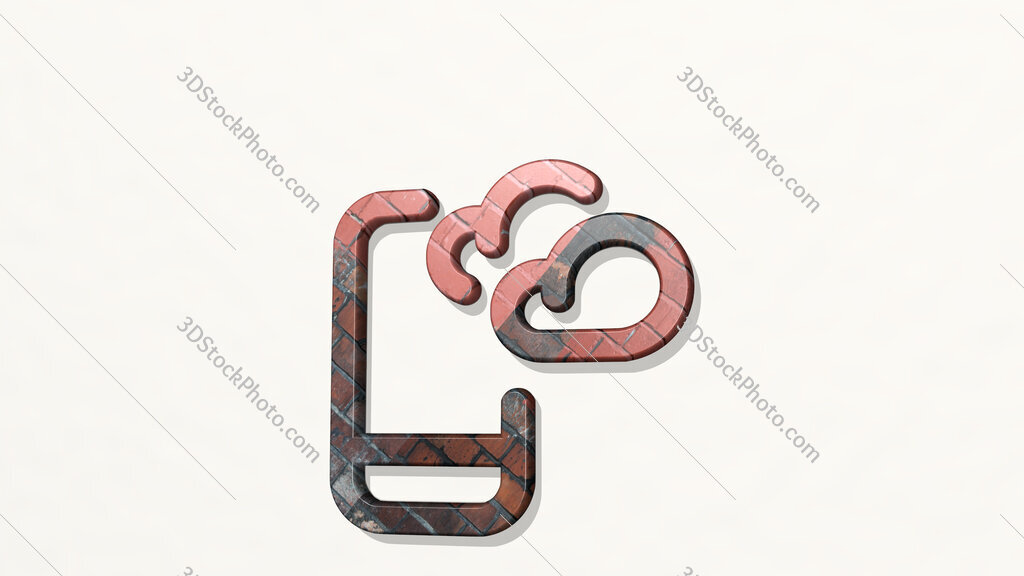 weather app cloudy 3D icon on the wall