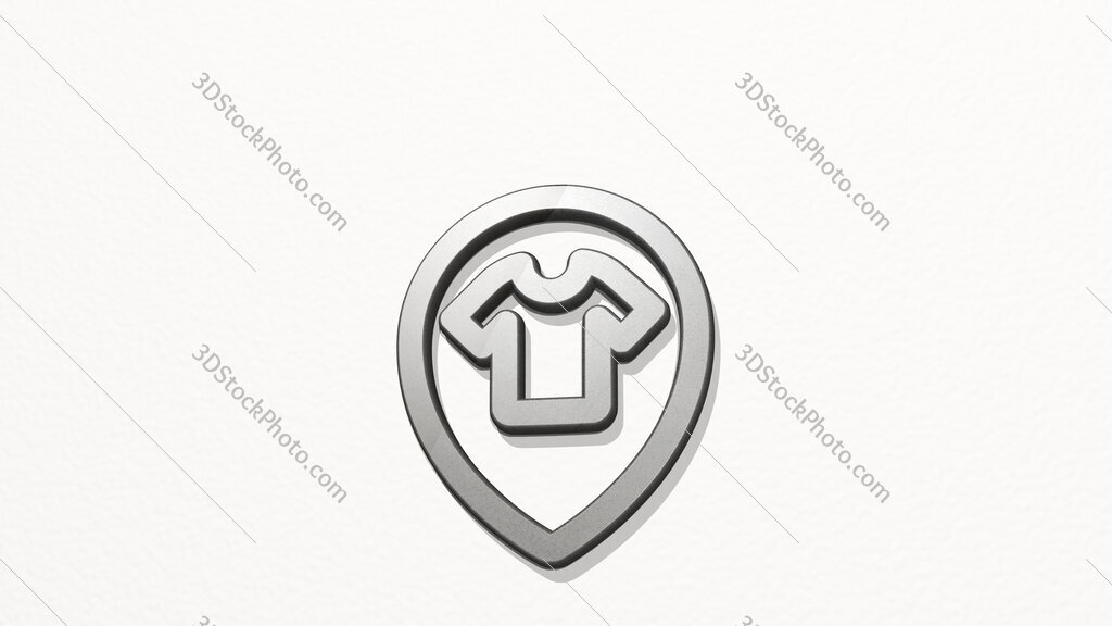 style three pin shirt 3D icon on the wall