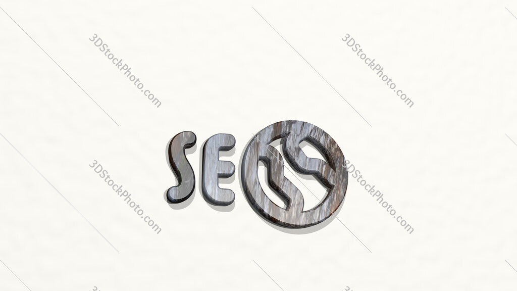 seo network 3D icon on the wall