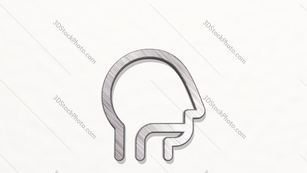 medical condition throat problem 3D icon on the wall