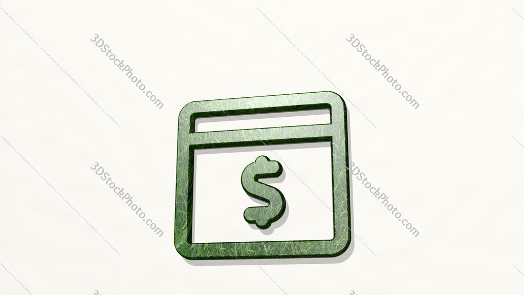 app window cash 3D icon on the wall