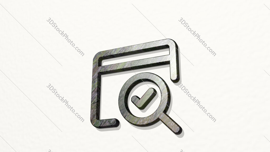 seo search page 3D icon on the wall
