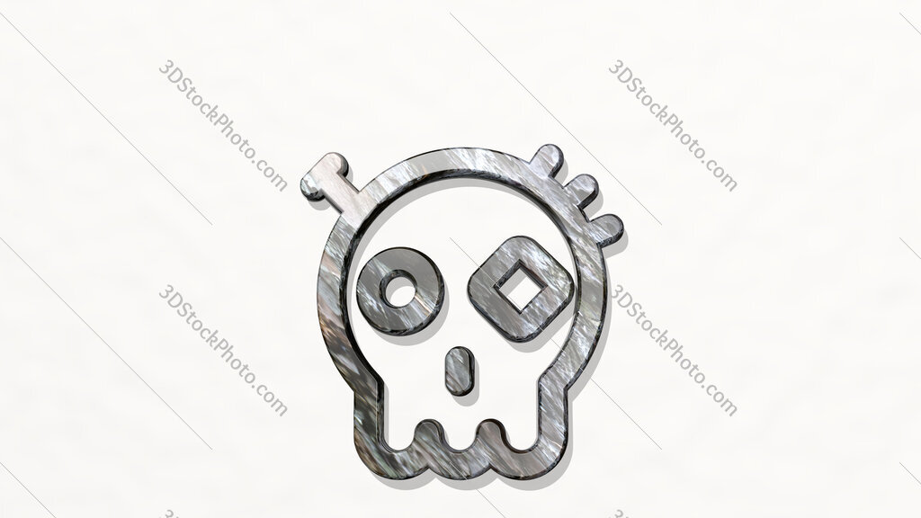 steampunk decoration dia de los muertos 3D icon on the wall