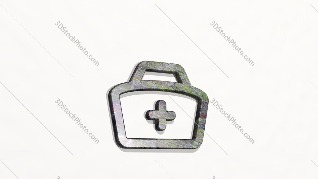medical personnel hat 3D icon on the wall