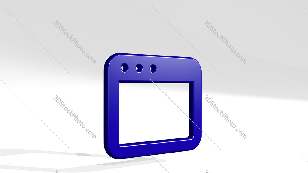 app window 3D icon casting shadow