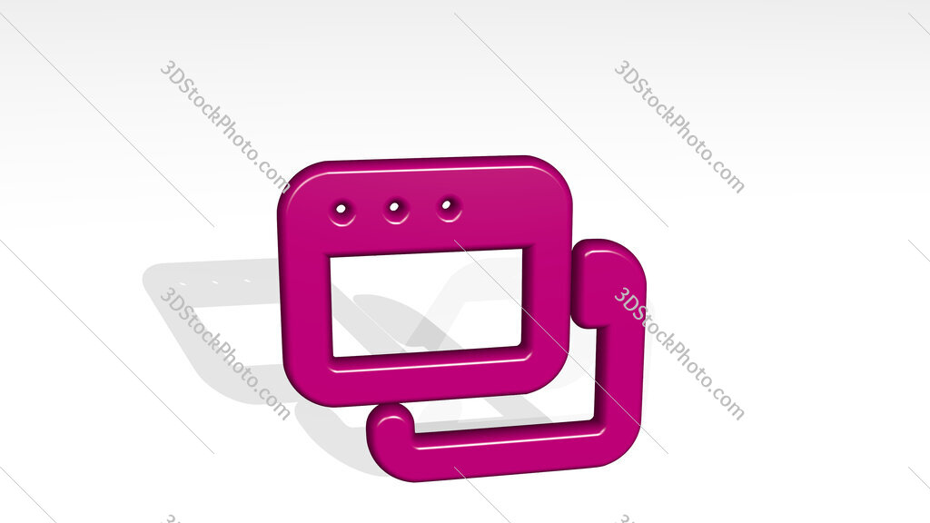 app window two 3D icon casting shadow