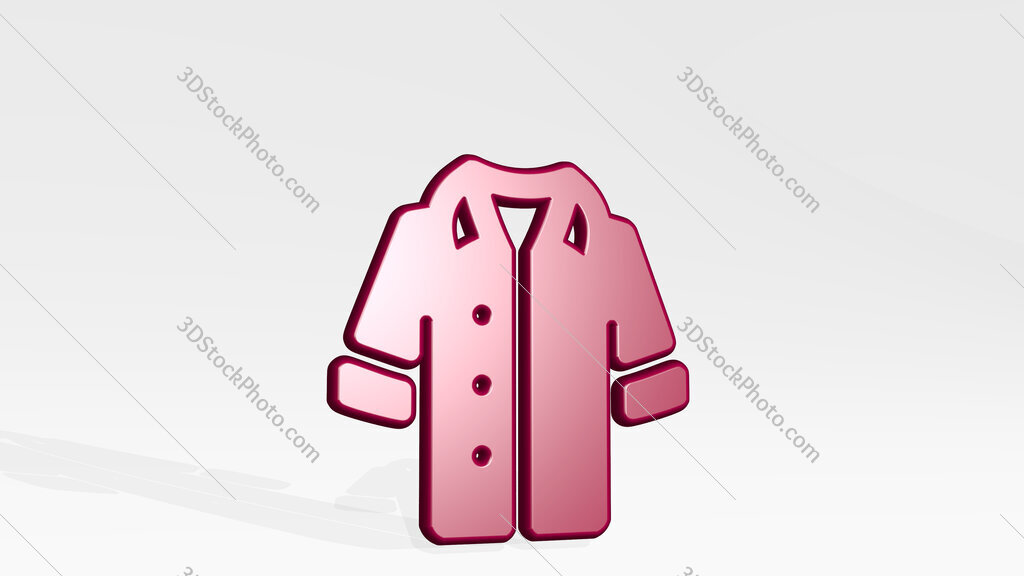 shirt female 3D icon casting shadow